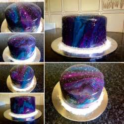 my very first mirror glaze galaxy cake i made mine personal pinterest galaxy cake glaze
