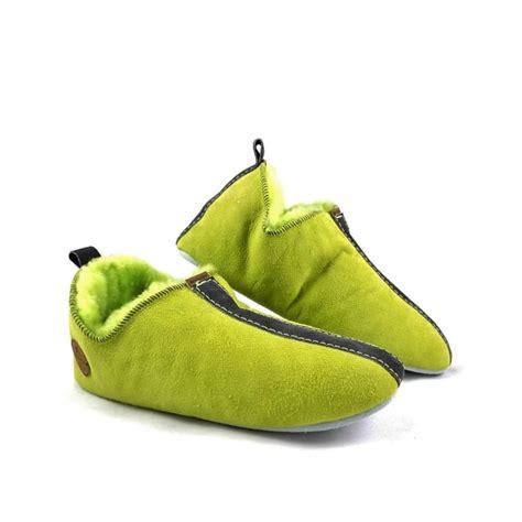 shepherd lina slippers s shepherd lina sheepskin slippers in lime green