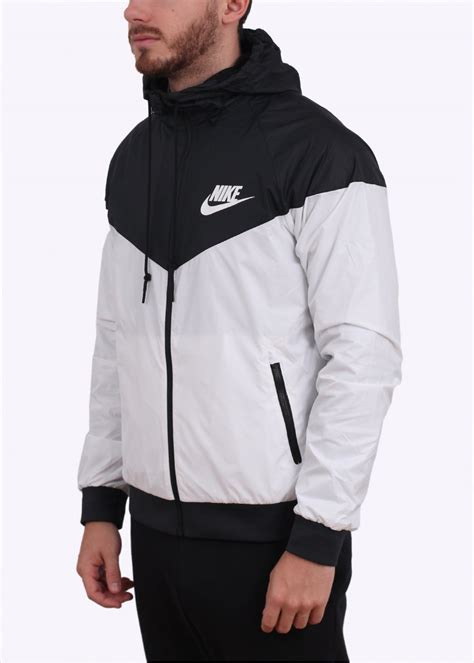 nike windbreaker white and black nike windrunner jacket spin creative
