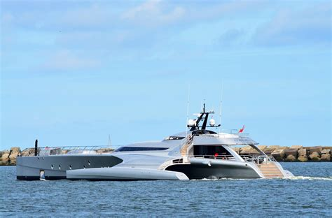 trimaran yacht galaxy world s largest trimaran galaxy leaves holland yacht harbour
