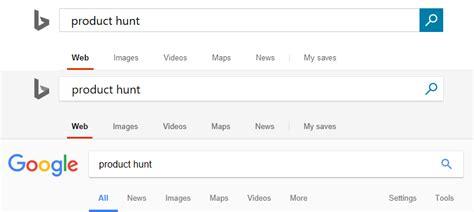 design like google microsoft is testing a new bing design that looks more