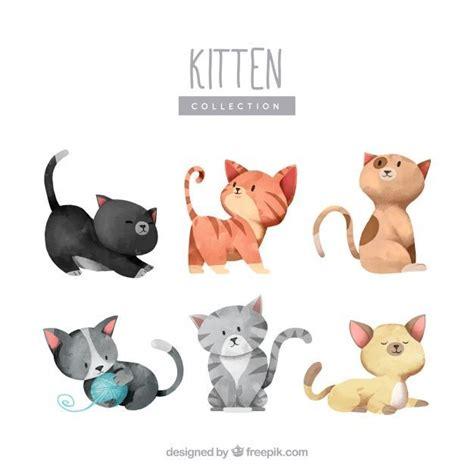 matratze 0 90 x 1 90 прекрасная коллекция акварельных котят бесплатные векторы