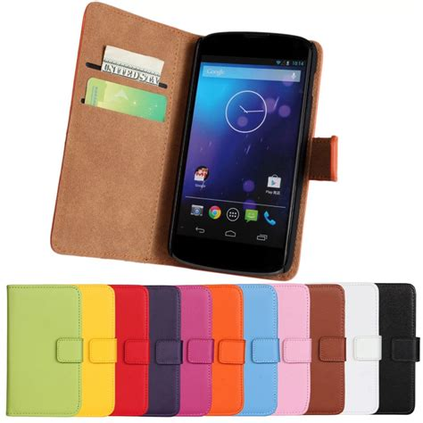 4 phones for 100 100 genuine leather for flip cover lg nexus 4 e960 cell phone cases for lg nexus 4