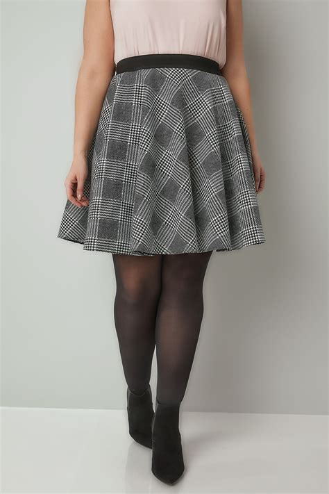Modell S Gift Card Balance Check - limited collection black white checked skater skirt plus size 16 to 32