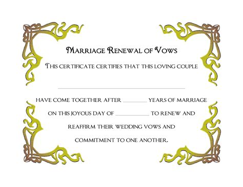 Wedding Vows Border by Vow Renewal Clipart