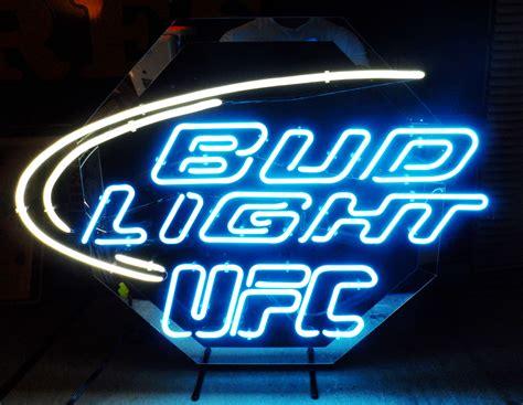 bud light bar signs bud light quot ufc quot neon bar sign circa 2000 breweriana