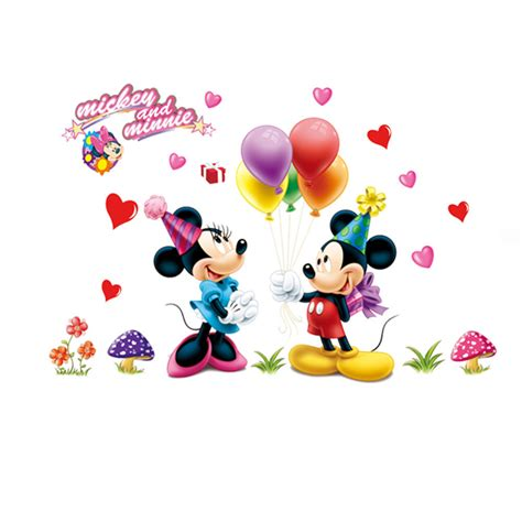 75 50cm mickey and minnie mouse wall stickers home