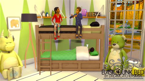 4 bed bunk beds my sims 4 basic bunk bed frame by dreamcatchersims