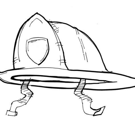 coloring page of fireman hat fireman hat drawing kids coloring europe travel guides com