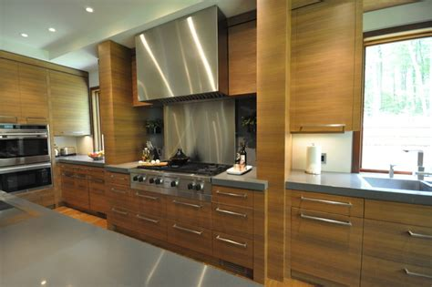 Contemporary Walnut Kitchen Cabinets by Custom Walnut Kitchen Contemporary Other Metro By