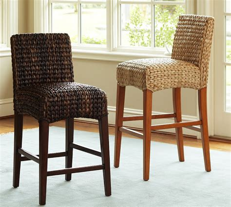 World Market Kaya Bar Stools by Copy Cat Chic Pottery Barn Seagrass Barstool