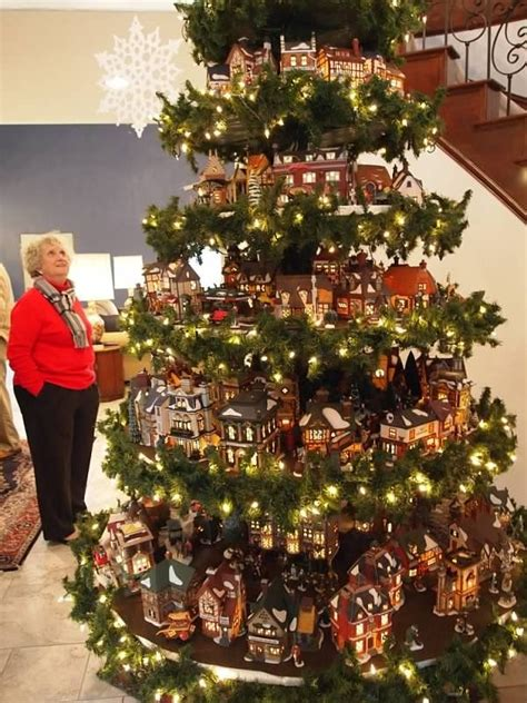 great idea for a christmas village display