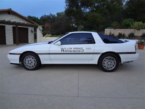 1989 Toyota Supra Turbo Willow Springs Pace Car 1989 Toyota Supra Turbo Bring A