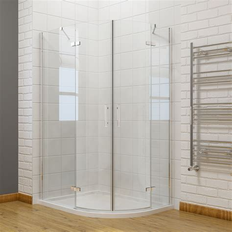High Wall Quadrant Shower Tray Quadrant Corner Entry Cubicle Shower Enclosure And Tray