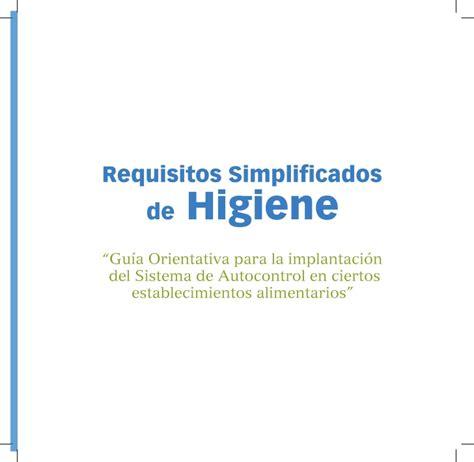 requisitos simplificados de higiene junta de andaluca requisitos simplificados de higiene junta de andaluca