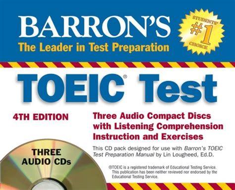 Barrons Toeic 5th Edition Barrons Bonus Cd Lougheed Diskon barron s toeic bridge test with audio cds test of