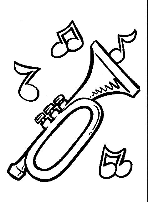 Printable Musical Instruments For Coloring Coloring Pages Musical Instrument Coloring Pages