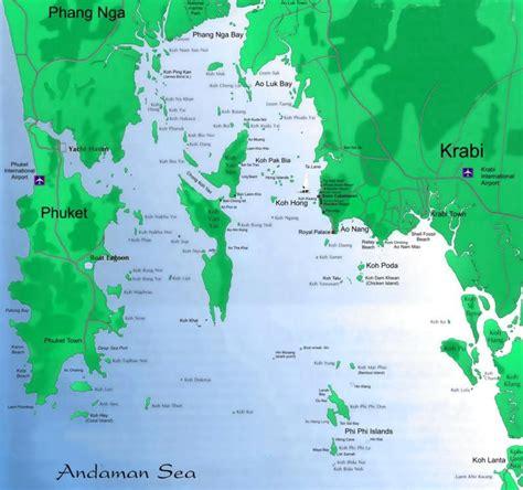 golden resort krabi map map of krabi