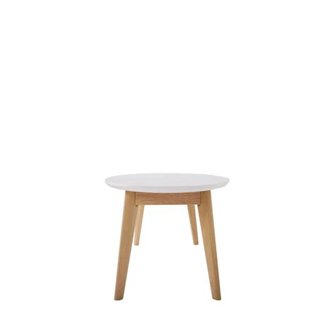 table basse scandinave ovale skoll by drawer