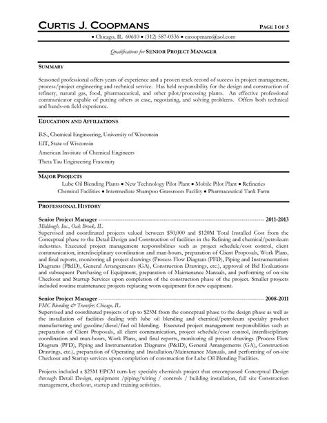 Gas Turbine Operator Sle Resume by Resume Title For And Gas Industry 28 Images Best Professional Resume Exles Sle Nurses Resume