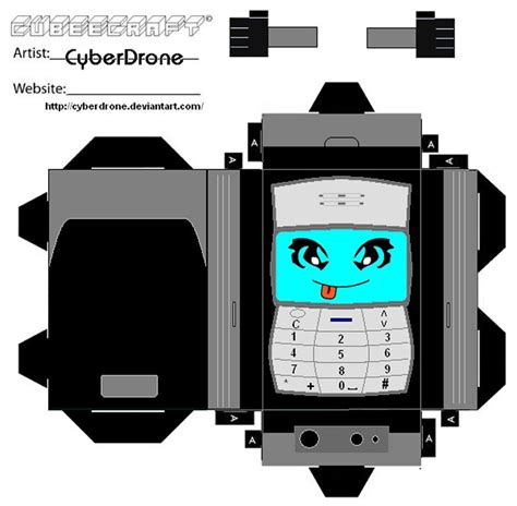 Papercraft Phone - cubee phone by cyberdrone on deviantart