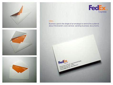 Fedex Office Business Cards by Fedex Envelope Business Card Gute Werbung