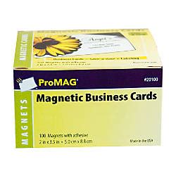 office depot index card template promag magnetic business cards 2 x 3 12 pack of 100 by