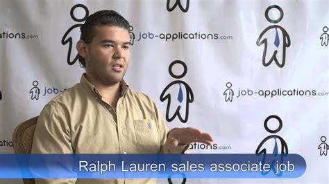ralph lauren interview sales associate youtube
