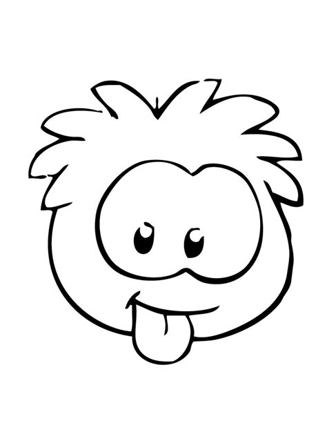 Puffles Coloring Pages puffle with tongue out coloring page h m coloring pages