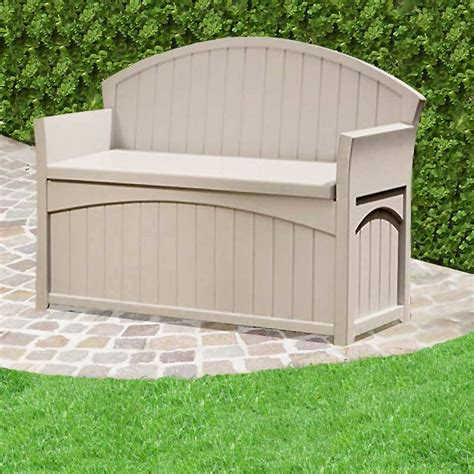 suncast outdoor storage bench suncast patio resin storage bench on sale fast delivery