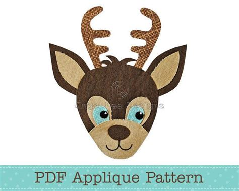 printable reindeer applique 111 best images about animal templates on pinterest deer