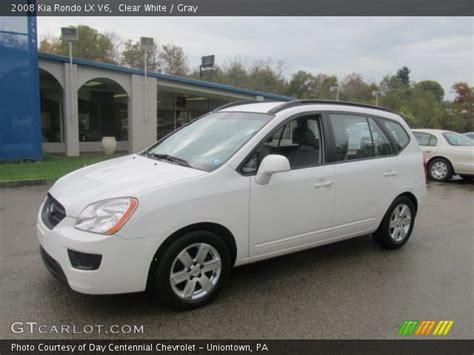 2008 Kia Rondo Lx by Clear White 2008 Kia Rondo Lx V6 Gray Interior