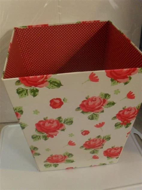 new shabby chic vintage floral collapsible paper waste bin