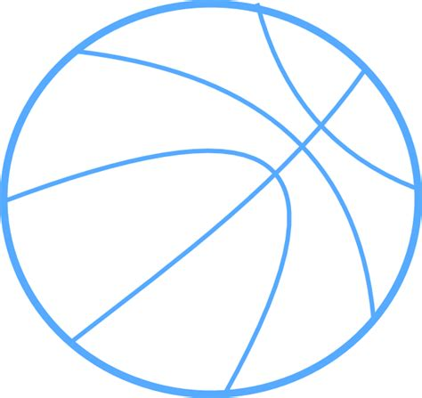 Blue Outline by Blue Basketball Outline Clip At Clker Vector Clip Royalty Free Domain