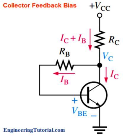 what is bias resistor transistor collector feedback bias engineering tutorial