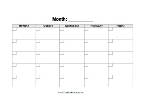 blank calendars for teachers calendar template 2016