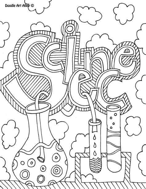 doodle homework science subject cover pages coloring pages classroom doodles