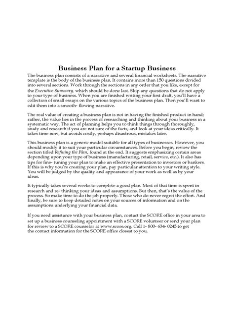 generic business plan template generic business template 5 free templates in