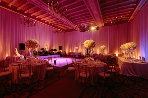 event design meaning 10 wedding reception spaces featuring soft pink uplighting