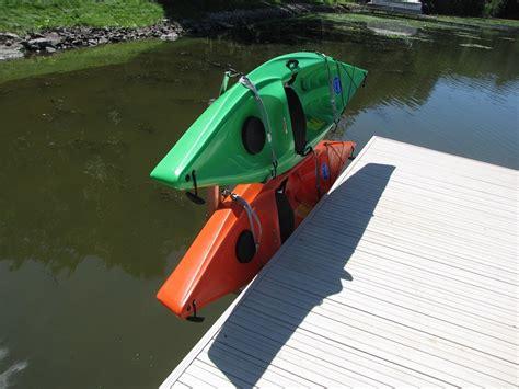 boat dock kayak rack vertical kayak rack mounts off the side of your deck or