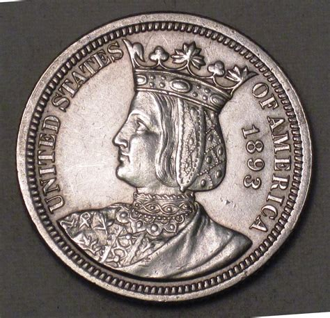 isabella columbian expo quarter rare silver commem coin wdee 10 400 00 decatur coin and