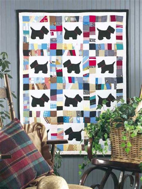 Scottie Quilt Pattern by Scottie Scrap Baby Quilt Pattern