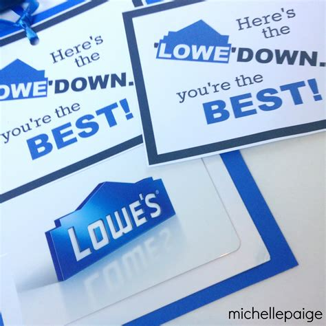 How Much Is On My Lowes Gift Card - michelle paige blogs here s the lowe down with a lowes gift card