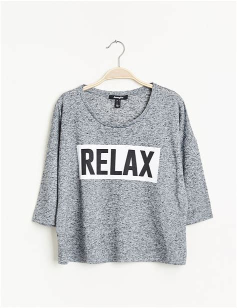 Kitchen Furniture Canada tee shirt relax gris chin 233 jennyfer e shop