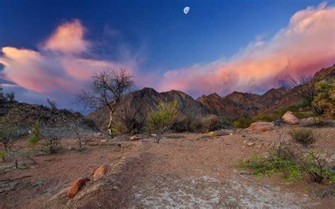 hd moon   desert wallpaper