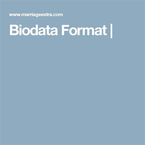 Biodata Format Resume Free by Best 25 Biodata Format Ideas On Professional