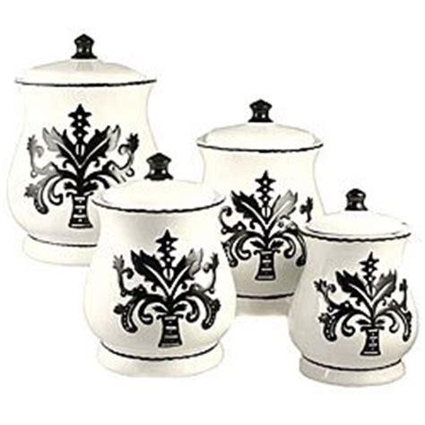 fleur de lis canisters for the kitchen tuscany fleur de lis just black white
