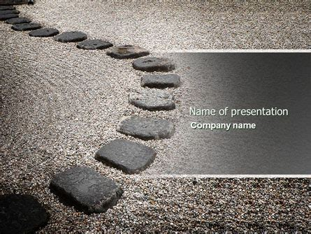 cement ppt themes free download winding road powerpoint template backgrounds 03602