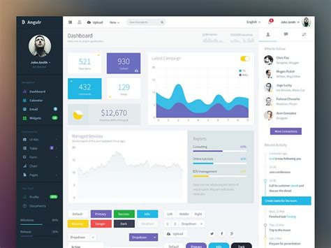 desktop application design templates be angulr angularjs web app template the box bar menu