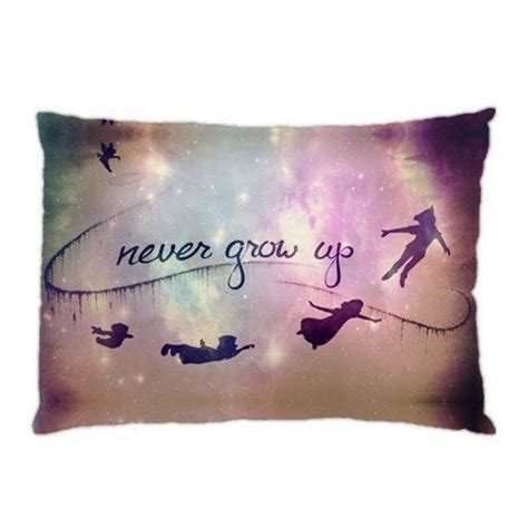 tattoo quotes growing up peter pan quotes never grow up pillow case cover custom